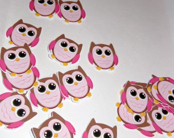 Owls Miniature\\ full color\\Die cut\\from silhouette machine \\ 3in x 4.25in full bag