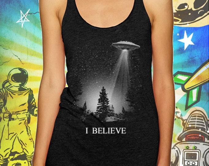 The X-Files / I Believe UFO / Vintage Black Tank Top