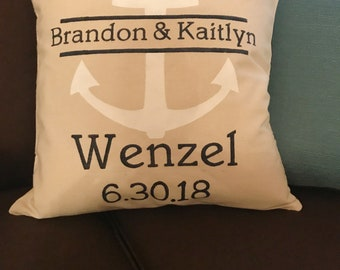 Family Pillow- Home Decor- Couch-Style-Personalized-Gift-Wedding Shower