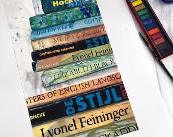 Landscape Books Painting