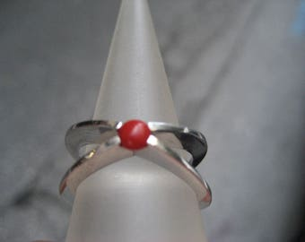 S 04g Special Wing CORAL RING 925 pure SILVER