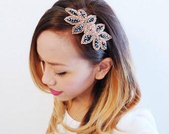 Rhinestone Headband, Bridal Headband, Wedding Headband, Gatsby Headband, 20s Headband, Crystal Headband, Beaded Headband, Flapper Headband