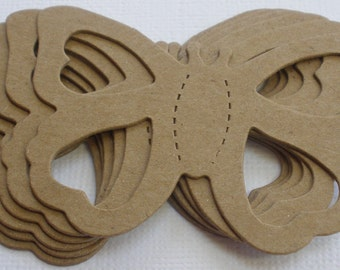 6 BUTTERFLY-  Raw CHiPBOARD Butterflies Bare Die Cuts