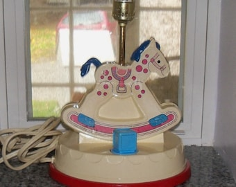 FISHER PRICE Vintage Baby or Child's LAMP Music Box