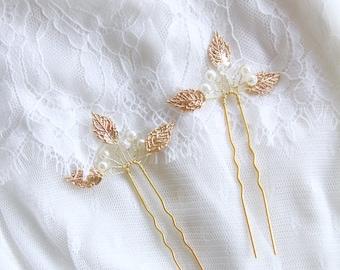 Bridal Headpiece Wedding Headpiece - Bridal Hair Comb Flower Hair Comb Wedding Hair Accessories Gold Hair Comb