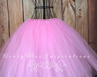 Pink Adult Tulle Skirt-Ladies Pink Tulle Tutu- Woman's Tulle Tutu-Ladies Tulle Tutu- Will Make any Size, Just send a Custom Request