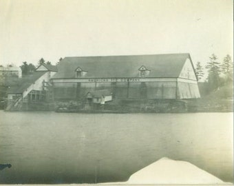 American Ice Company Building Antique Photo Taken From Boat Baltimore Washington DC Photograph