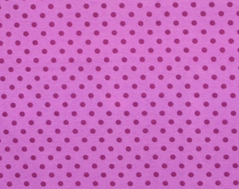 Blueberry dots 1/2 yard cotton lycra knit