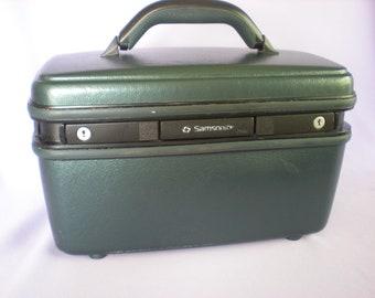 Train Case, Samsonite Case, Overnight Bag, Makeup Case, Small Suitcase, Vintage Luggage, On Sale