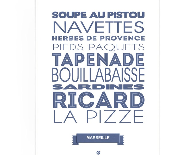 Poster Marseille Foodie