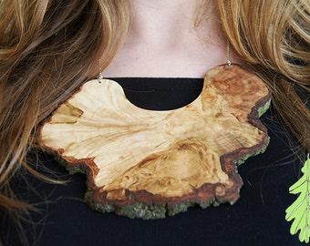 SALE Branch Necklace big, Oak wood