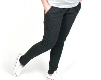 Maternity Trousers/Maternity Pants  Over-the-bump jersey Black