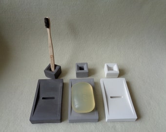 Bathroom Set, Soap Dish, Toothbrush Holder, Industrial soap dish