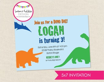 Dino Dig Birthday, Dino Dig Birthday Invitation, Dino Dig Printables, Dino Dig Birthday Decorations, Lauren Haddox Designs