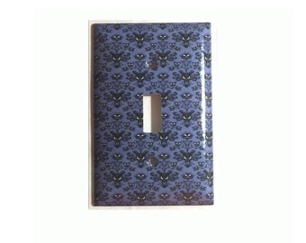 Haunted Mansion wallpaper Toggle Rocker Light Switch & Power Duplex Outlet Plate Cover Home Decor