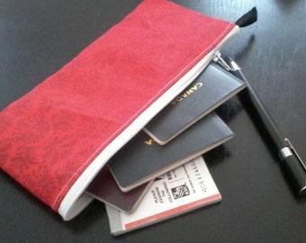 Case for checkbook, passport, treasure chest pencil case, card holder, made to order, custom Passport case, door checks