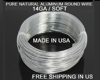14 Ga / 50 Ft. Aluminum Wire Soft ,99.99% Pure Aluminum