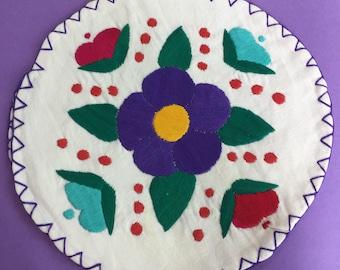 Hand Embroidered Tortilla Warmer, Mexican Tortilla Warmer