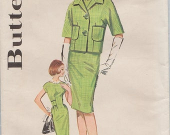 Butterick 2307 / Vintage 60s Sewing Pattern / Dress And Jacket / Size 16 Bust 36