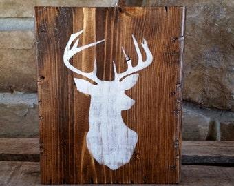Buck Head, , Hunting, Man Cave, Outdoors, Deer, Block shelf sitter