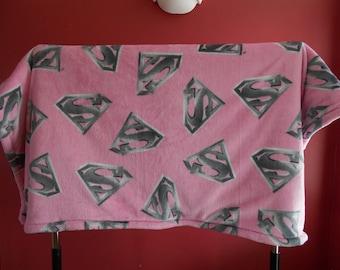 Supergirl Fleece Blanket--lap size