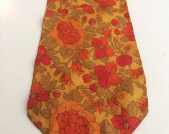 Mister Carnaby floral 60s tie Liberty print cotton