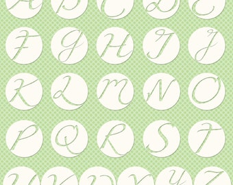 Monogram Letter Stickers for Digital Designs