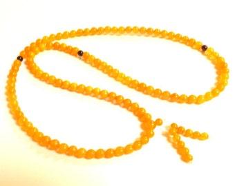 Baltic Amber Antique Butterscotch Buddhist Mala Prayer Ball Beads Natural 11.7 gram 5 mm