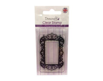 Clear stamp frame decorative baroque + 1 free INKER