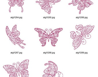 Art-Butterflies-Redwork ( 8 Machine Embroidery Designs from ATW )