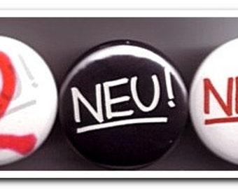 NEU! badges buttons pins neu german kraut rock kraftwerk