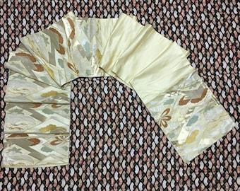 Vintage Japanese Kimono Silk Fukuro Obi