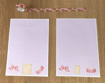 Washi and Planner Snail Mail Pen Pal Writing Paper