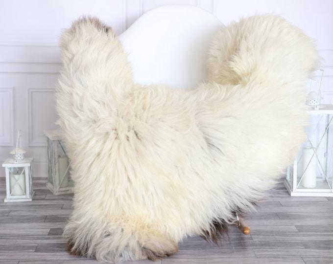 Sheepskin Rug | Real Sheepskin Rug | Shaggy Rug | Scandinavian Rug | | SCANDINAVIAN DECOR | Beige Brown Sheepskin #MIHER51