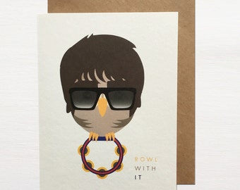Rowl With It Greetings Card
