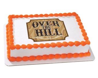 Old Timer Edible Sheet Cake Topper