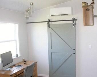 Double T Strap Sliding Barn Door Hardware For 2 Doors W Track