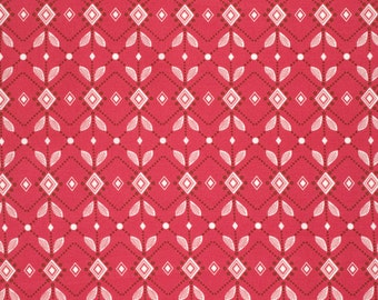 Diamond Mine in Pomegranate PWAH090 - FOLK SONG by Anna Maria Horner - Free Spirit Fabric  - 1 Yard