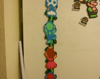 Super Mario Bros 2 Bead sprite magnet! Retro Gaming bead artwork. fridge magnet