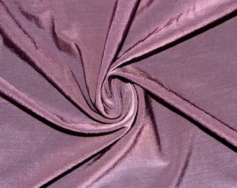 "Shiny Plum #15 Swimwear Activewear 4 Way Stretch Nylon Spandex Lycra Solid Apparel Cosplay Craft Fabric 56""-58"" Wide By The Yard"