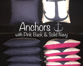 Anchors with Solid Navy