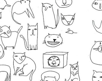 A full time cat # CATS SKETCHES< ABURI Mini zine Limited edition