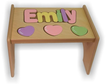 Children's Personalized Puzzle Step Stool