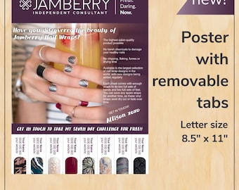 Poster with rip tags, letter sized - fig - PDF digital file