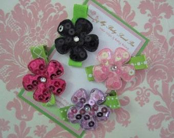 girl hair clips - flower hair clips- no slip hair clips