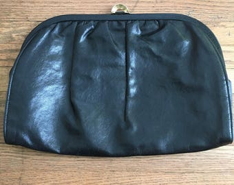 Vintage, Faux Leather Clutch