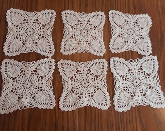 6 Vintage Crochet Pieces for Upcycling or Display