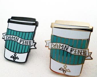 Joe To Go - Damn Fine Coffee - Twin Peaks Hard Enamel Pin Badge