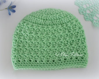 Star Stitch Crochet Baby Hat Beanie Pattern, Size 0-3 Months, Crochet Pattern, Instant PDF Download