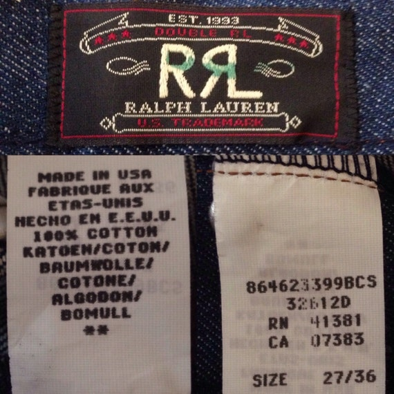 90's RRL Boot Cut Jeans - 27/36 - NWT Deadstock - Made in USA - RztO26